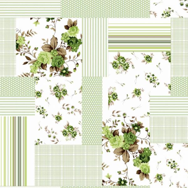 UUS! Voodipesukomplekt lapitekimuster roheline