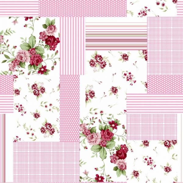 UUS! Voodipesukomplekt lapitekimuster roosa