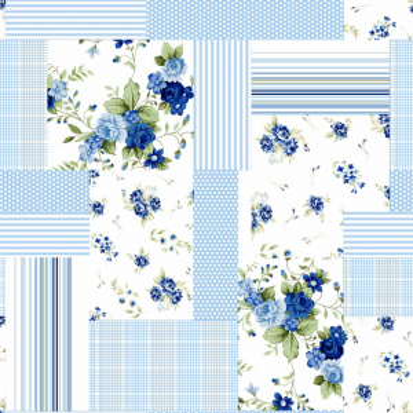 UUS! Voodipesukomplekt lapitekimuster sinine