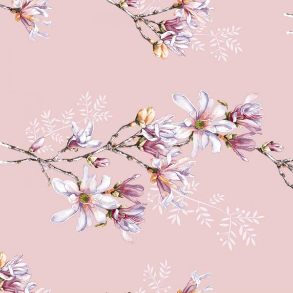 UUS! Voodilina magnoolia roosa