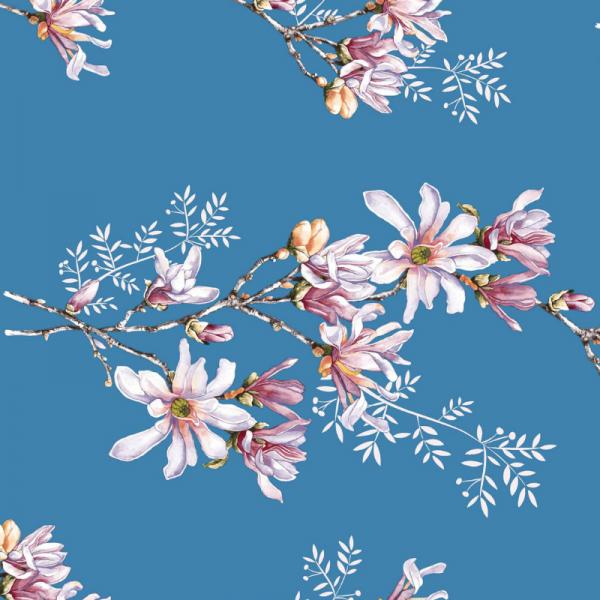 UUS! Voodilina magnoolia sinine