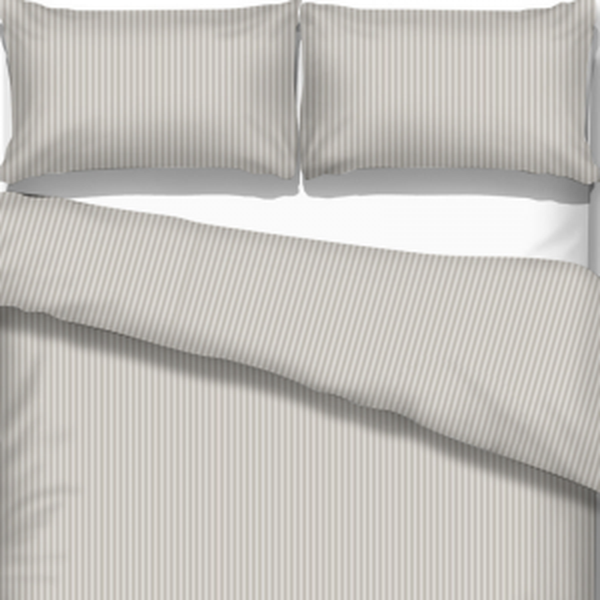 UUS! Satiinist voodipesukomplekt triibuline hõbehall