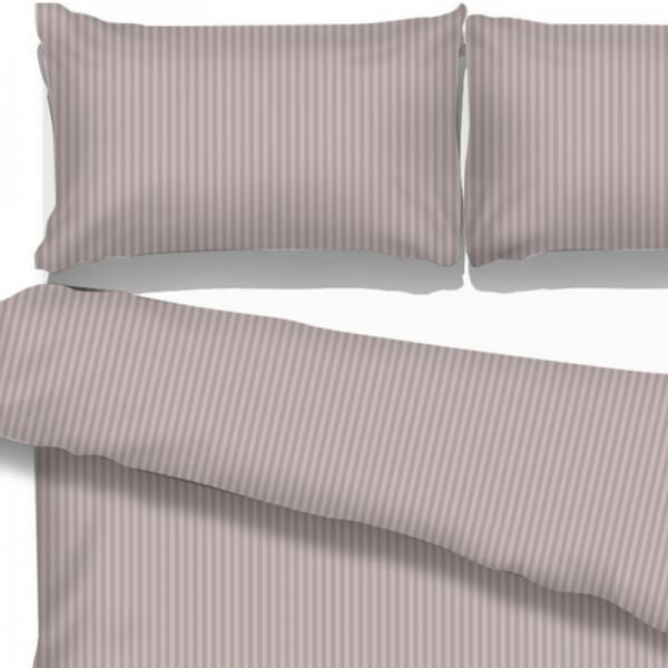 UUS! Satiinist voodipesukomplekt triibuline roosakashall