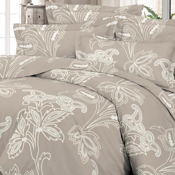 Satiinist voodipesukomplekt kakao