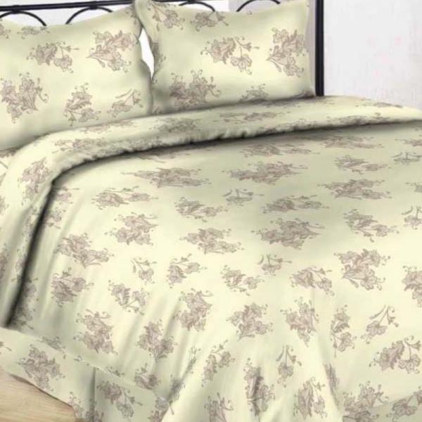 Satiinist voodipesukomplekt papüürus