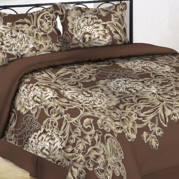 UUS! Satiinist voodipesukomplekt pruun