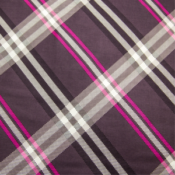 Satiinist voodipesukomplekt violetne ruudustik