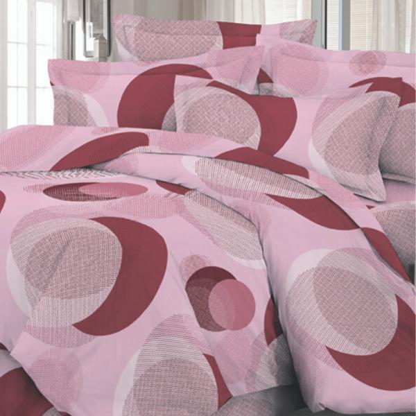 Satiinist voodipesukomplekt roosad mullid