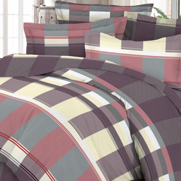 Satiinist voodipesukomplekt modernne ruut