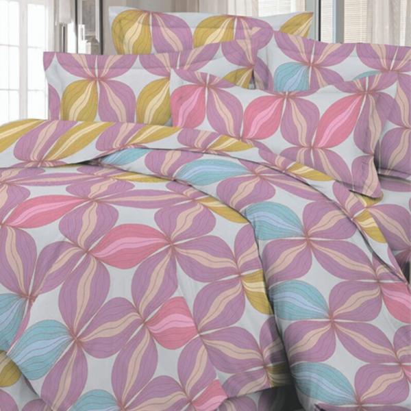 Satiinist voodipesukomplekt roosa igavik
