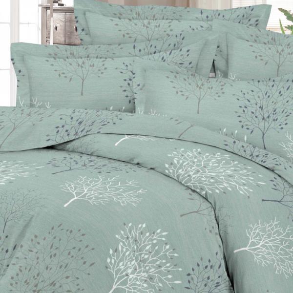 UUS! Satiinist voodipesukomplekt mineraal sinine