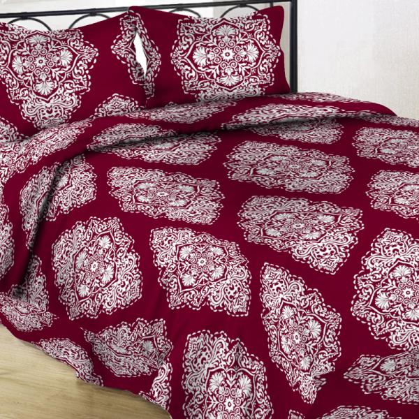 UUS! Satiinist voodipesukomplekt veinipunane