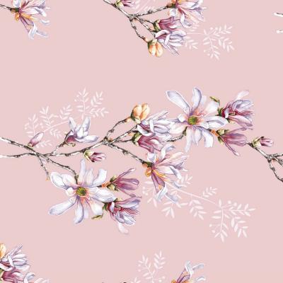 UUS! Voodipesukomplekt magnoolia roosa