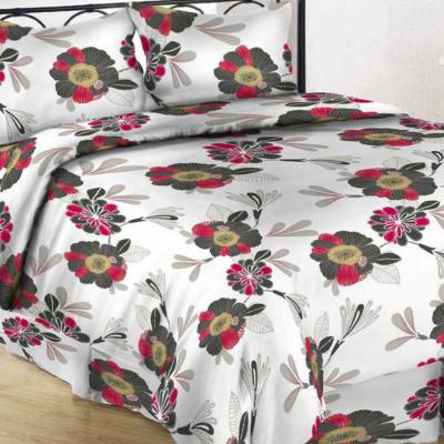 UUS! Satiinist voodipesukomplekt punane õis