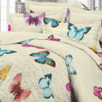 UUS! Satiinist voodipesukomplekt liblikatega